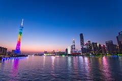 Guangzhou kantonu lub wierza wierza, formalny Guangzhou TV Astronomiczny i Zwiedzający wierza Fotografia Stock
