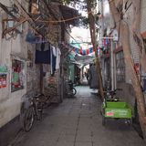 Guangzhou Kina gammal gata Royaltyfria Foton