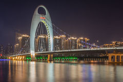 Guangzhou Liede Bridge Night Royalty Free Stock Photography
