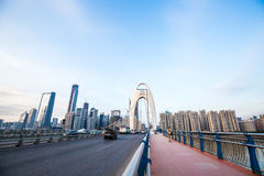 Guangzhou Liede bro Arkivbilder