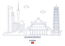 Guangzhou City Skyline, China Stock Photography