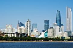 Guangzhou linia horyzontu w dniu Zdjęcia Stock