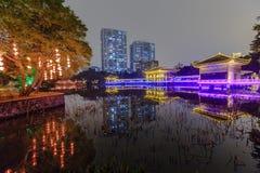 guangzhou liwan lake park at night Stock Photography