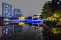 guangzhou liwan lake park at night Royalty Free Stock Photography