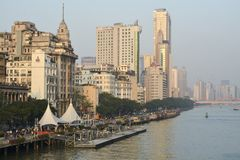 Guangzhou Long dike. royalty free stock photos