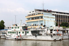 Guangzhou Marina. Guangzhou passenger wharve,can way to the Huangpu [Whampoa] Military Academy Stock Photo