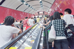 Guangzhou Metro escalator Royalty Free Stock Photo