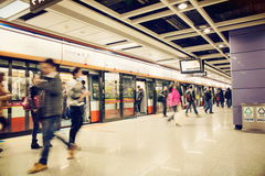 Guangzhou metro station, subway and metro train in China Stock Photo