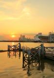 Guangzhou miasta zmierzchu krajobraz Obrazy Royalty Free