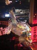 Guangzhou miastowa linia horyzontu przy nocą Zdjęcie Royalty Free
