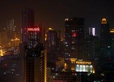 Guangzhou miastowa linia horyzontu przy nocą Obraz Stock