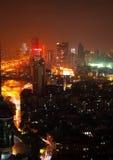 Guangzhou miastowa linia horyzontu przy nocą Zdjęcia Royalty Free