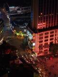 Guangzhou miastowa linia horyzontu przy nocą Zdjęcia Stock