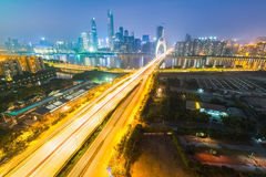 Guangzhou at night Royalty Free Stock Photo
