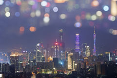 guangzhou noc widok Zdjęcie Stock