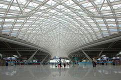 Guangzhou - nuova stazione ferroviaria Fotografia Stock