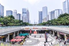 Guangzhou nytt stadslandskap Det speciala affärsområdet i nya Zhujiang, Guangzhou Royaltyfria Bilder