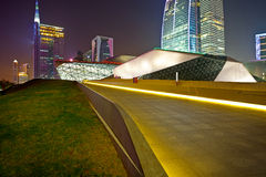 Guangzhou Opera House in night city Royalty Free Stock Photography