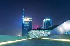 Guangzhou operahus i Kina Arkivfoton