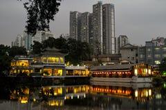 Guangzhou Panxi Restaurant Night View Stock Photo