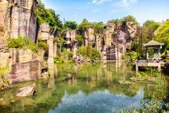 Guangzhou Panyu Lotus Mountain Scenic Fotos de archivo libres de regalías