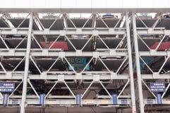 Guangzhou parking lots Stock Image