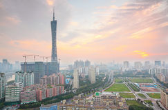 Guangzhou Pearl River and Canton TV Tower Stock Images