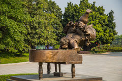 Guangzhou Pearl River New City, Guangzhou Grand Theater display statue. Stock Photo