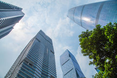 Guangzhou Pearl River New Town CBD financial business center, the top of a number of modern buildings in the sky Royalty Free Stock Images
