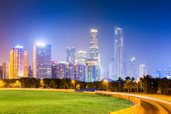 Guangzhou pearl river new town at night Stock Photos