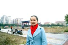 Guangzhou porslin: gångtunnelstation Royaltyfria Foton