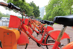 Guangzhou public bicycles Stock Image