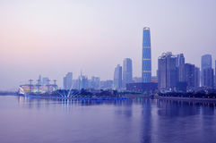 Guangzhou riverside city building night Royalty Free Stock Photography
