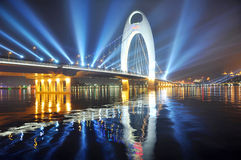Guangzhou riverside city building night. City Landmark, China Stock Photos