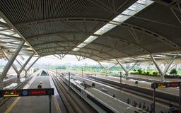 Guangzhou södra järnvägsstation i Kina Fotografering för Bildbyråer