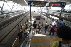 Guangzhou södra järnvägsstation i Kina Arkivfoton