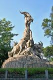 Guangzhou - Five Ram Sculpture. Guangzhou`s famous Five Ram Sculpture in Yuexiu Park. The sculpture is consider the repsentative of Guangzhou stock photography