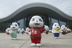 Guangzhou Science  Center Chinese pandas. Guangzhou Science Design Research Center Royalty Free Stock Images