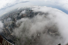 Guangzhou sea. Guangzhou after the rain, the Pearl River Metro over the clouds and the sky, as in Wonderland stock photo