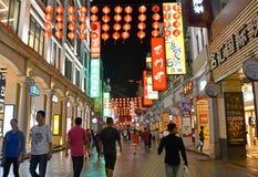 Guangzhou - Shang Xia Jiu Pedestrian Street Fotografía de archivo libre de regalías
