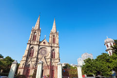 Guangzhou shishi sacred heart cathedral Royalty Free Stock Photos
