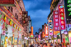 Guangzhou Shopping Street Royalty Free Stock Photography
