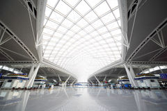 Guangzhou south railway station. Under roof in Guangdong, China Royalty Free Stock Photos