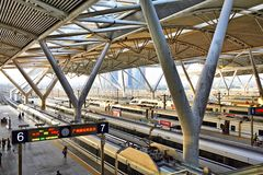 Guangzhou south railway station, China stock image