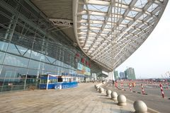 Guangzhou south railway station is the modern building in guangzhou china. Stock Photo