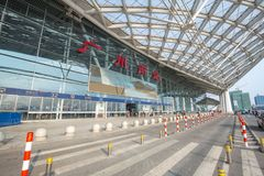 Guangzhou south railway station is the modern building in guangzhou china. Guangzhou,china - oct,7,2017:guangzhou south railway station is the modern building Royalty Free Stock Photography