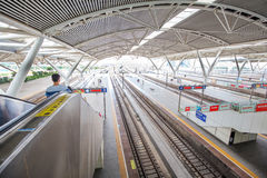 The Guangzhou south railway station is new and modern railway station. Royalty Free Stock Photography