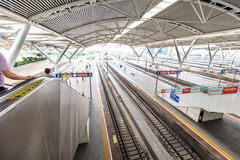 The Guangzhou south railway station is new and modern railway station. Royalty Free Stock Photos
