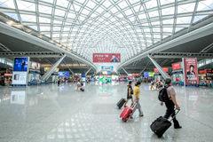 The guangzhou south railway station is the new and modern railway station. Stock Images