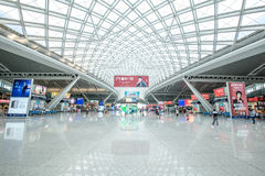 The guangzhou south railway station is the new and modern railway station. Royalty Free Stock Photography